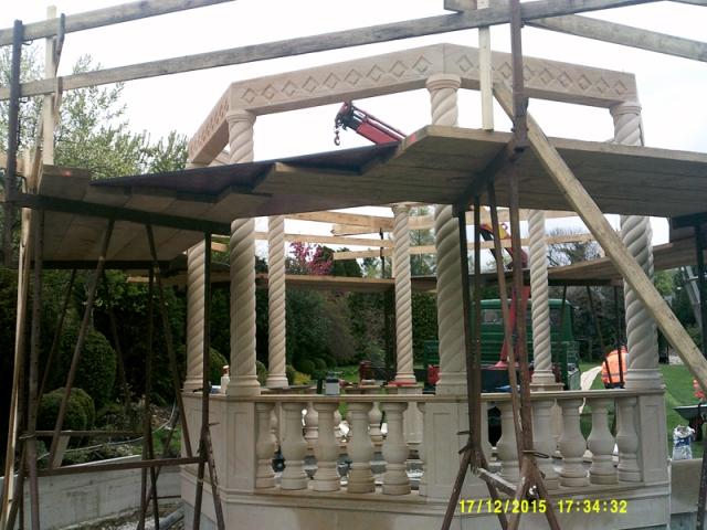 Gartengestaltung Rosenpavillon